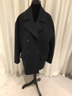COS Short Coat dark blue