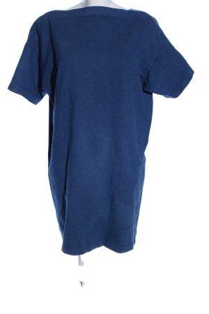 COS Robe trapèze bleu moucheté style décontracté