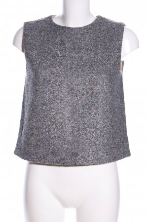 COS A-Linien Top hellgrau meliert Casual-Look