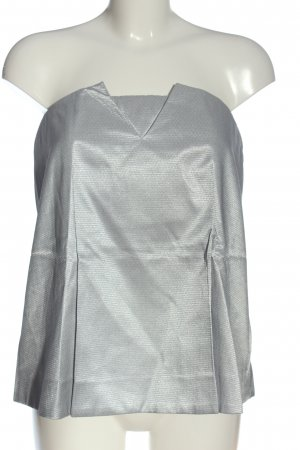COS Off the shoulder top zilver-wit volledige print elegant