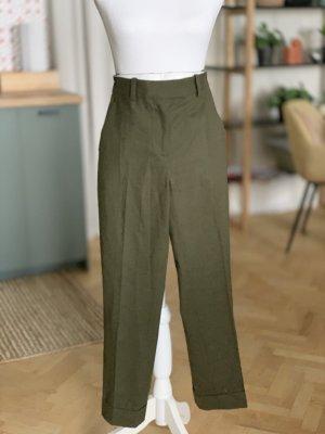 COS Anzughose khaki Olivgrün Wolle 34 XS