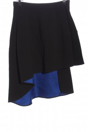 COS Asymmetrie-Rock schwarz-blau extravaganter Stil
