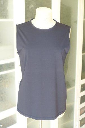 COS basic Top in dunkelblau aus Baumwolle-Stretch Gr.M
