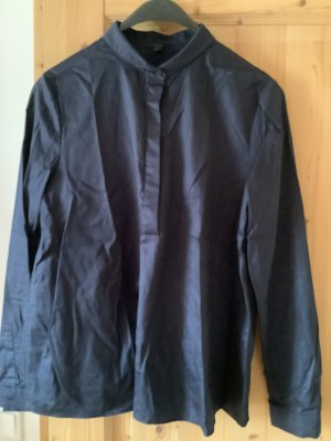 COS Long Sleeve Blouse dark blue