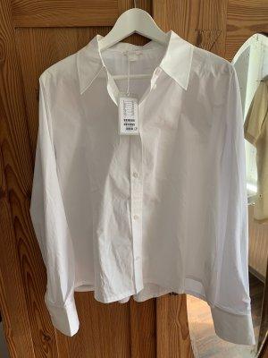 COS Oversized Blouse white cotton