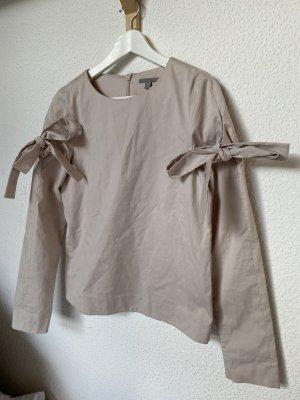 Cos Bluse schleifen Blogger Hemd Shirt nude M