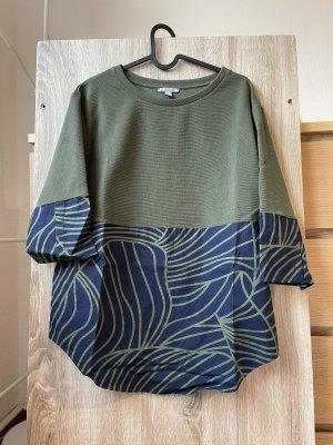 COS Bluzka o kroju koszulki zielono-szary-ciemnozielony