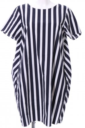 COS Blusenkleid schwarz-weiß Streifenmuster Business-Look
