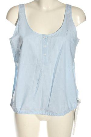 COS Blusentop blau-weiß Streifenmuster Casual-Look