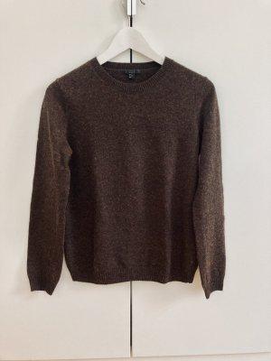 COS Maglione di lana marrone scuro