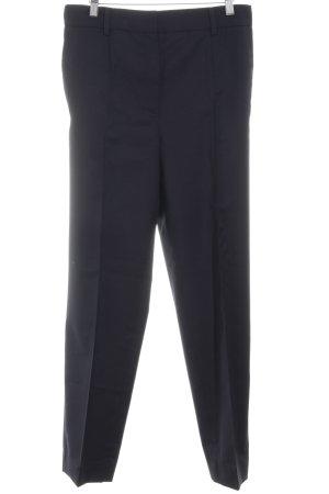 COS Bundfaltenhose dunkelblau Business-Look Wolle