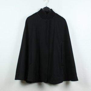 COS Capa negro tejido mezclado