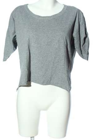 COS Camicia cropped grigio chiaro puntinato stile casual