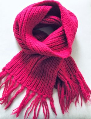 COS Bufanda de punto violeta-rosa Lana