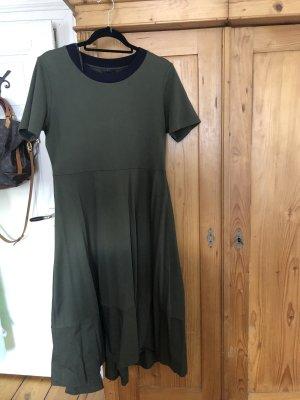 COS A-lijn jurk khaki-donkerblauw