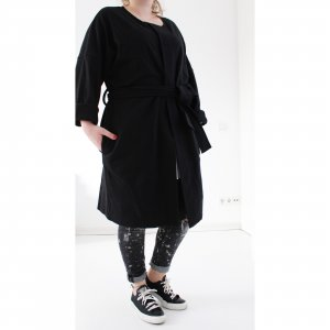 COS Oversized Coat black mixture fibre