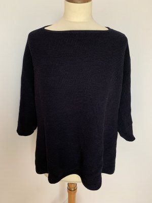 COS Knitted Poncho dark blue