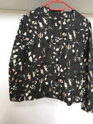COS dunkelgrüne Bluse mit Print