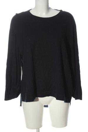 COS Fine Knit Jumper black-blue casual look