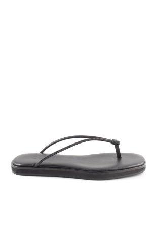 COS Flip Flop Sandalen schwarz Casual-Look