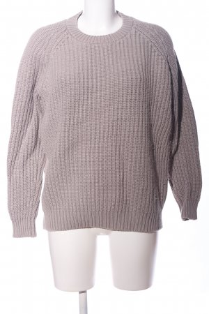 COS Coarse Knitted Sweater light grey cable stitch casual look
