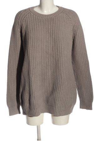 COS Sweter z grubej dzianiny jasnoszary-w kolorze białej wełny W stylu casual