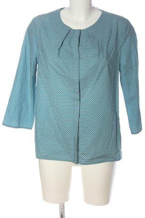 COS Hemd-Bluse blau-weiß Allover-Druck Casual-Look