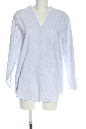 COS Hemd-Bluse weiß-blau Streifenmuster Business-Look