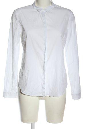 COS Koszulowa bluzka biały W stylu biznesowym