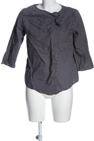 COS Hemd-Bluse schwarz-wollweiß Allover-Druck Casual-Look