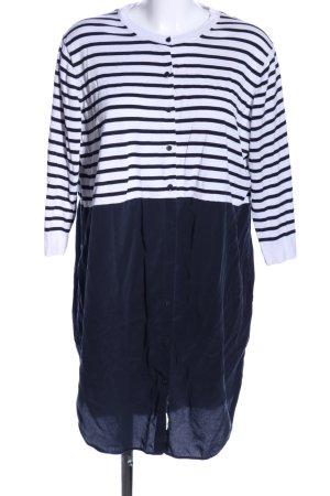 COS Hemdblusenkleid weiß-schwarz Streifenmuster Casual-Look