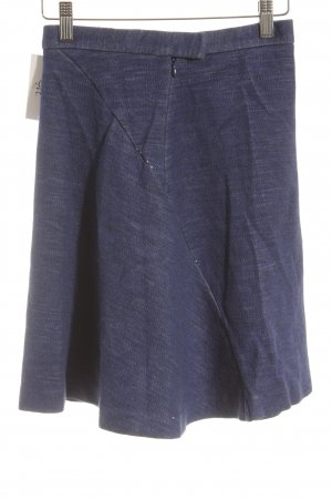 COS High Waist Rock blau schlichter Stil