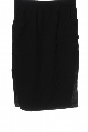 COS Rok met hoge taille zwart casual uitstraling