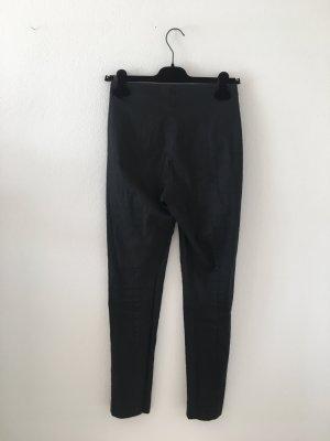 COS Pantalon taille haute noir-gris anthracite