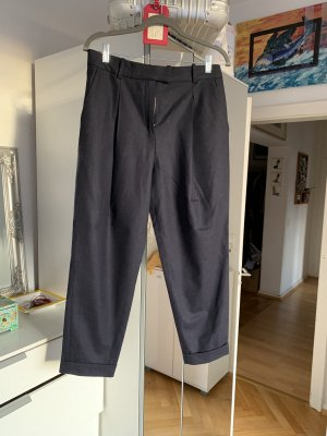 COS Woolen Trousers dark blue wool