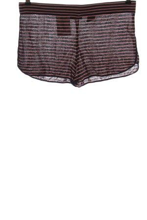 COS Hot Pants schwarz-rot Streifenmuster Casual-Look