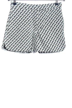 COS Krótkie szorty biały-czarny W stylu casual