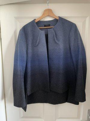COS Wełniany sweter niebieski-ciemnoniebieski