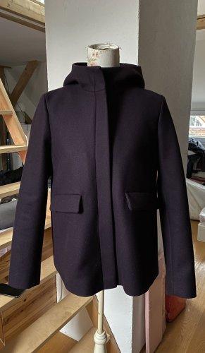 COS Giacca di lana bordeaux-viola scuro
