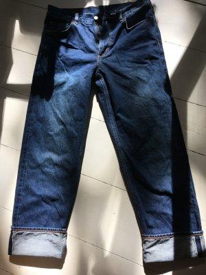 COS Jeansy z prostymi nogawkami stalowy niebieski