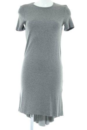 COS Abito jersey grigio chiaro puntinato stile casual