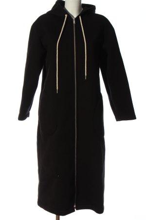 COS Płaszcz z kapturem czarny W stylu casual
