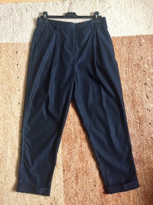 COS Pantalone peg-top blu scuro-nero