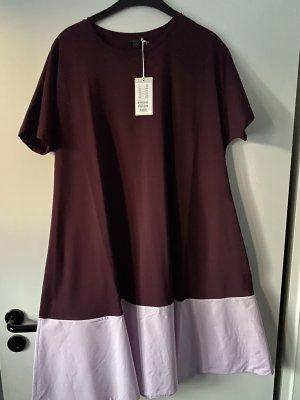 COS Robe trapèze bordeau-rosé