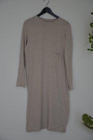 COS Kleid - hellbeiges Midi-T-Shirt Kleid
