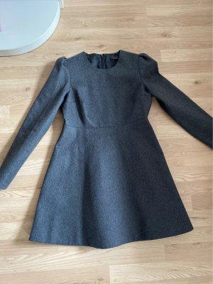 COS Robe en laine gris anthracite