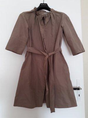 COS Gabardina tipo vestido rosa empolvado-marrón grisáceo tejido mezclado