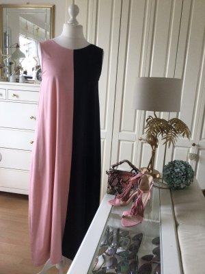 COS Maxi abito rosa antico-blu scuro