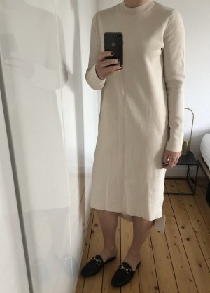 COS Kleid Midikleid Maxikleid Wolle Schlitz Cutout beige 38