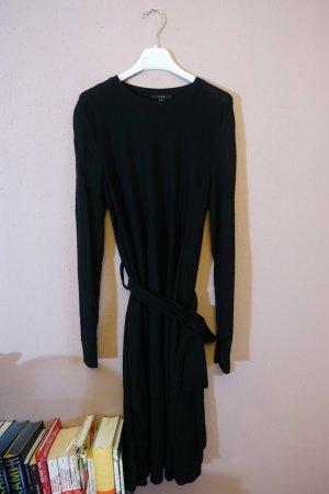COS Woolen Dress black-dark blue wool